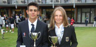 Nejlepší jednotlivci- zlaté medaile Francouz Maxence Giboudot a Němka Emilie Von Finckenstein